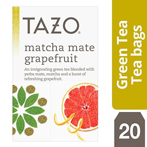 (Tazo Matcha Mate Grapefruit Tea Bags, Green, 20 Count (Pack of 6))