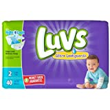 Health & Personal Care : Luvs with Size 2 Ultra Leakguards Diapers, 40 count per pack - 2 per case.