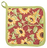 Kitchen Style by Now Designs Potholders, Sunflowers, Set of 2
