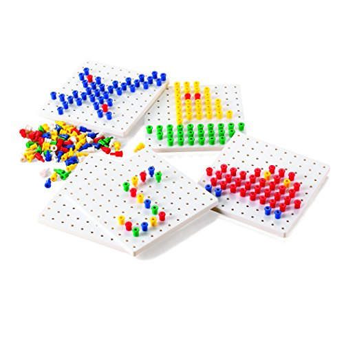 - Learning Advantage CTU39470 Pegs and Peg Board Set, 5 Boards, 1000 Pegs (Pack of 1005)