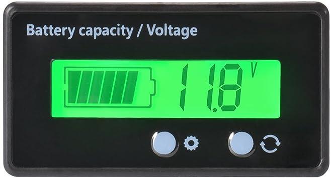 Digital Lcd Batterie Kapazität Spannungsprüfer Monitor Wasserdichte Kapazität 12 24 36 48v Spannungsprüfer Spannungsmesser Für Fahrzeugbatterie 6 63v Baumarkt