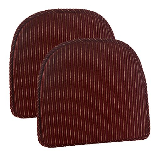 Gripper Nikita Delightfill Chair Cushion (set of 2) (Red Gripper)