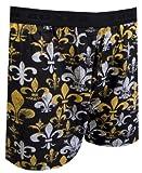 Fleur de Lis Black Boxer Shorts for men