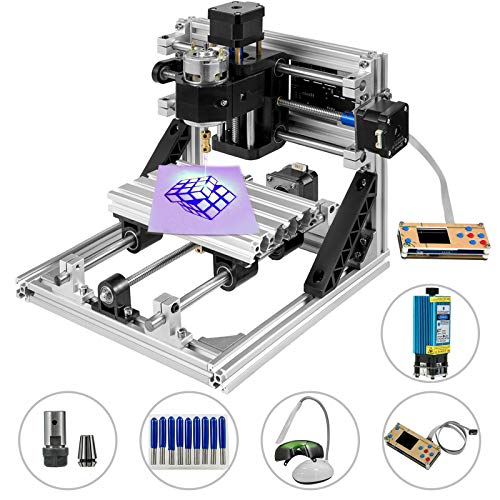 Mophorn CNC Machine 3018 GRBL Control Wood Engraving Machine 3 Axis CNC Router with 500mw Laser Engraver Offline Controller Milling Machine for Wood PVCs PCBs