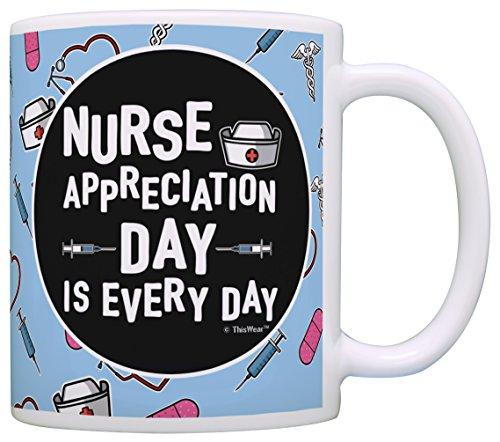 School Uniform Ideas (Nurse Appreciation Gifts for Nurses Nurse Appreciation Day is Every Day Nurse Nursing School Gifts Nurse Gifts Funny Nurse Gag Gift Coffee Mug Tea Cup Blue)