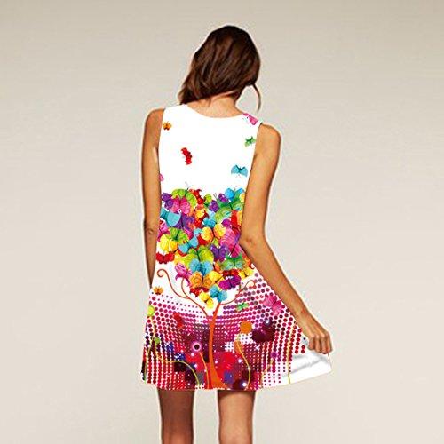Courte Jupon Jupe Manche Fille de A Robe Robe Mini sans de Robe Soire Tunique Line 12 YICHUN Crayon Femme Robe Pavillon Plage de 0qOwTx