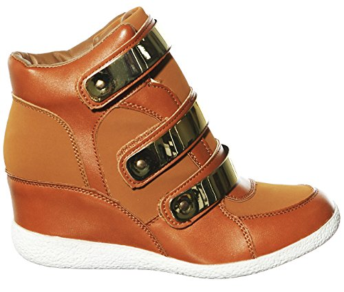 Fashion Women's shoewhatever Top Wedge Lace Hi up Sneakers Chnnub14 Pl 0wZdA