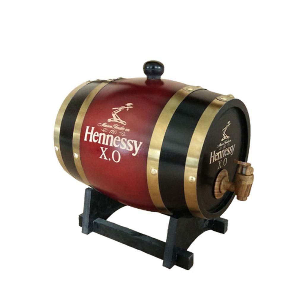 AMCER Barril de Madera de Roble, Personaliza tu Logo Exclusivo para almacenar Vino, Whisky, Brandy y más (3 litros) D: Amazon.es: Hogar