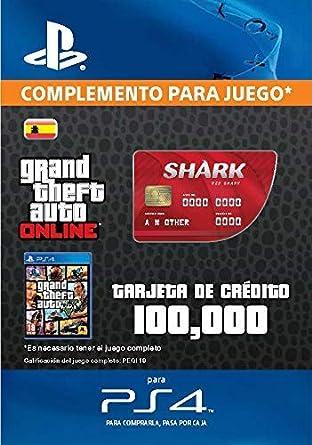 Grand Theft Auto Online - GTA V Cash Card | 100,000 GTA-Dollars | Código de descarga PS4 - Cuenta Española: Amazon.es: Videojuegos