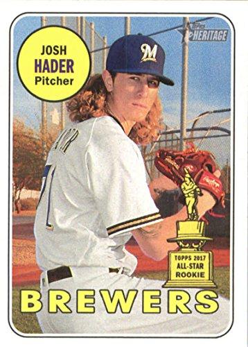 2018 Topps Heritage #150 Josh Hader Milwaukee Brewers Baseball Card