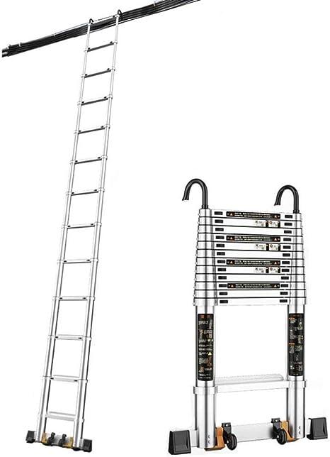 YXLONG Escalera Plegable con Estabilizador De Gancho Desmontable Escalera Telescópica Recta Escalera Multipropósito Capacidad De Carga Portátil De hasta 150 Kg,320cm: Amazon.es: Deportes y aire libre