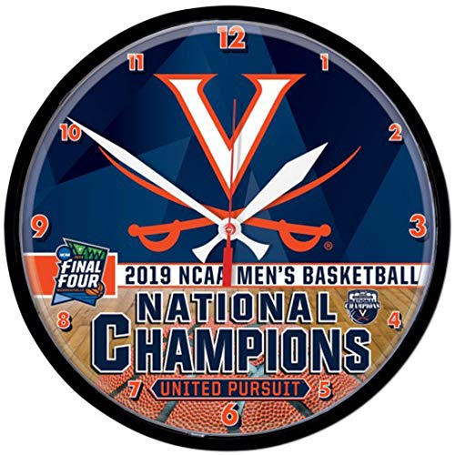 Virginia Cavaliers 2019 NCAA Basketball National Champions Round Wall Clock