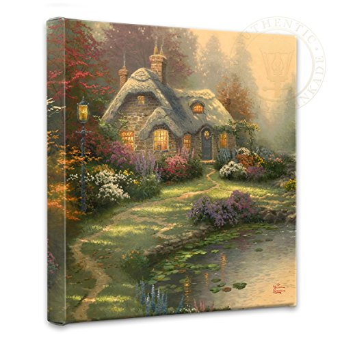Thomas Kinkade Everett's Cottage  - nature wall art - pretty decor