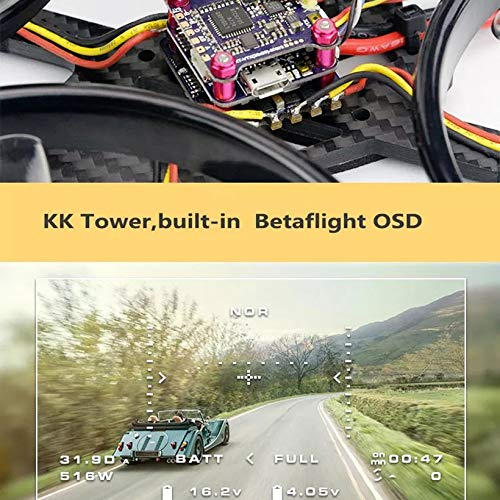Wikiwand LDARC ET MAX 185mm 4'' 3-4S FPV Racing Drone PNP F4 Flight Controller OSD 20A by Wikiwand (Image #6)