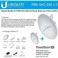 Ubiquiti PBE-5AC-300 2-pack PowerBeam 5AC 22dBi 300mm airMAX AC 450+ Mbps 20+km
