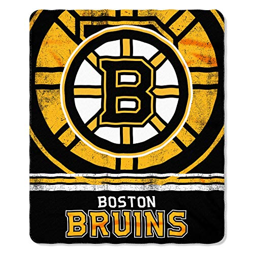 Boston Bruins Blanket (The Northwest Company 1NHL/03102/0001/AMZNHL Boston Bruins Fade Away Printed Fleece Throw, 50
