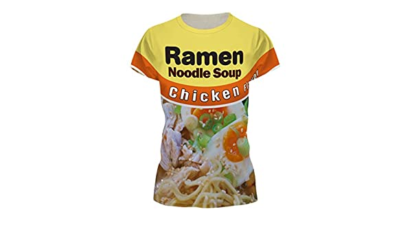HRTWRYS Funny T-Shirt Beef/Chicken Flavored Ramen Noodle Soup Food T-Shirt | Amazon.com