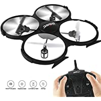 U818AHD 2.4G 6-axis 2MP HD Camera Aerial RC Drone- VR Headset Compatible - Headless Mode, Low Voltage Alarm, Gravity Induction