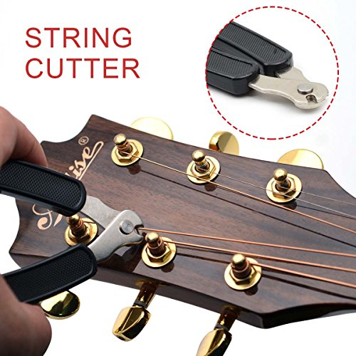 Large Product Image of Black 3 in 1 Multifunction Guitar String Winder String Cutter Pin Puller,MusicOne