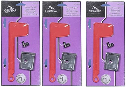 Gibraltar Rust-Proof Plastic Red Mailbox Replacement Flag Kit Rfl10000 Quick Eas