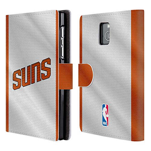 Official NBA Jersey Phoenix Suns Leather Book Wallet Case Cover For BlackBerry (Phoenix Suns Black Leather)