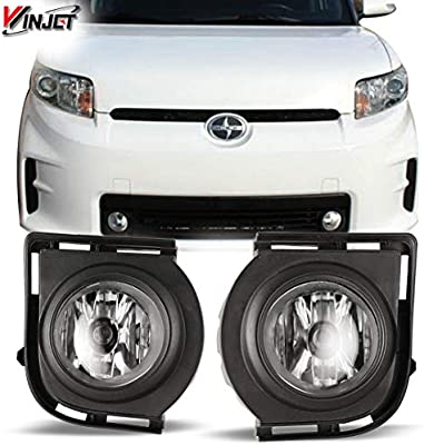 amazon com: winjet wj30-0305-09 oem series for [2008-2010 scion xb] clear  lens driving fog lights + switch + wiring kit: automotive