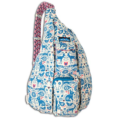 KAVU Rope Bag - Compact Lightweight Crossbody Sling, Critter Tale, One Size