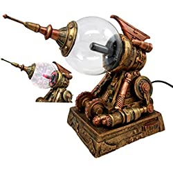 "Atlantic Collectibles Steampunk Electric Plasma Laser Static Storm Ball Blaster Gun Decorative Accent Lamp Figurine 8.25""L"
