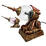 "Ebros Steampunk Electric Plasma Laser Static Storm Ball Blaster Gun Decorative Steampunk Gun Accent Lamp Figurine 8.25"" L 6"