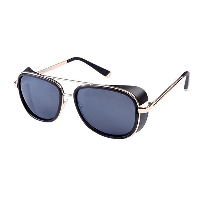 Amazon.com: Gafas de sol para exteriores con marco cuadrado ...