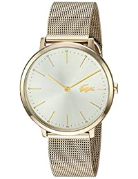 Lacoste Women's 2001000 Fashion Moon 2h 35mm Gp Case and Champagne Dial Watch