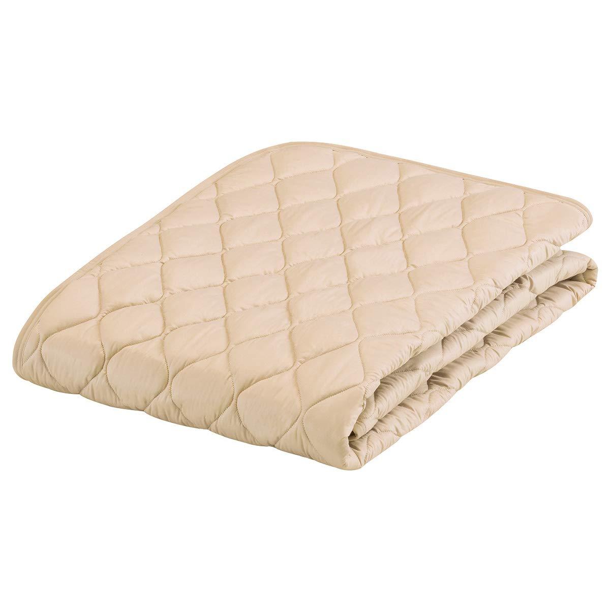 フランスベッド ベットパッド ベージュ ワイドダブル グッドスリーププラス 羊毛パッド 36011660 B01MG2VPWV