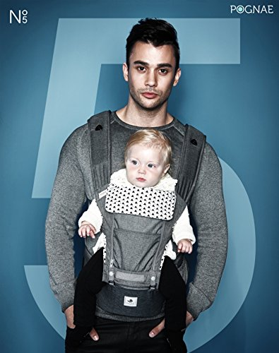 32a5af8ee0e Amazon.com   Pognae No 5 Baby Hipseat Front Backpack Infant Baby Carrier  (Gray)   Baby
