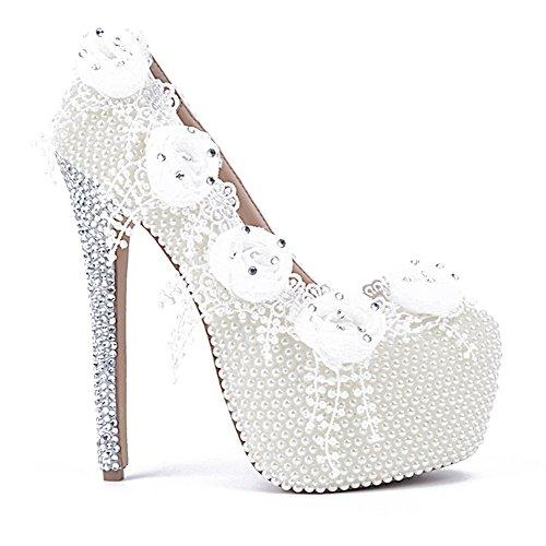 À stiletto Pointu Femmes White Été Cuir Microfibre Strass Plate Hauts Chaussures forme Pour En Talons Bout yc Printemps L Confort tqaUIq