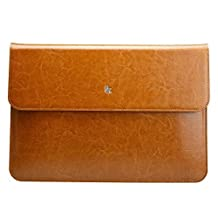 Apple Macbook Air 11-inch Sleeve Case Cover, Jisoncase® MacBook Air 11-inch Luxury Vintage Leather Sleeve Case - Sleeve Carrying Bag Ultrabook Laptop bag for Apple Macbook Air 11'' with Hidden Magnetic Closure, Vintage Brown Color JS-AIR-02Z20