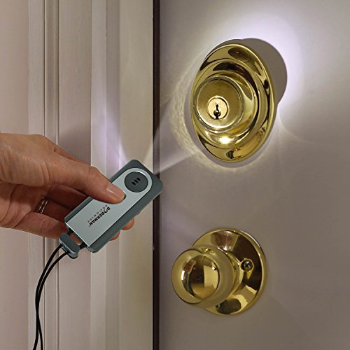 Doberman Security Portable Door Alarm with Flash Light, 4 ...