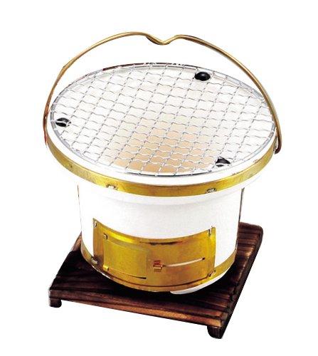 Portable Yakitori Clay Stove Round #L-897