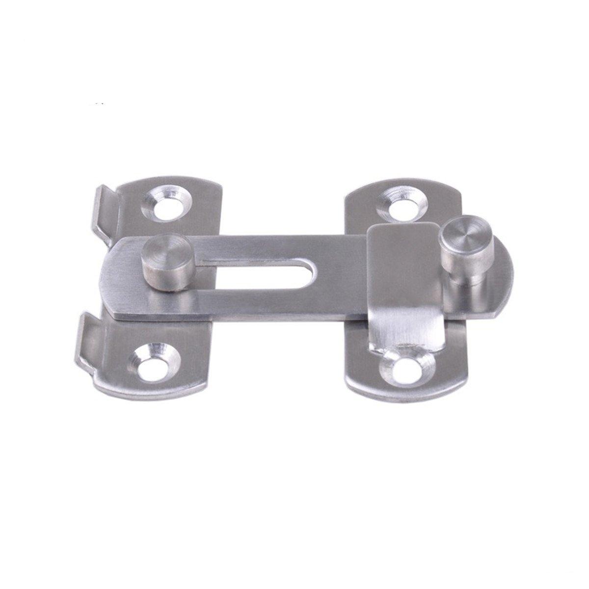 LKXHarleya Stainless Steel Door Lock Latch for Pet Safety Door Lock Cabinet