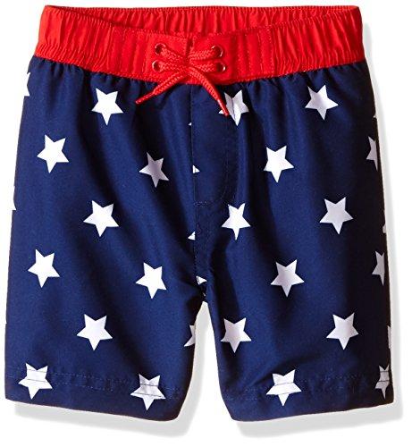 UPC 883953802811, Little Me Baby Boys' USA Star Swim Trunks, Navy, 18 Months