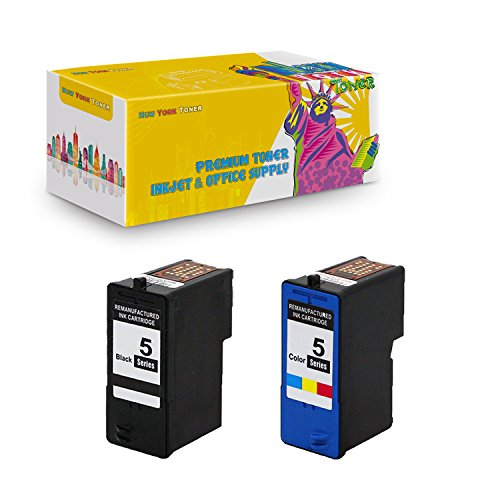 New York TonerTM New Compatible 2 Pack M4640 (Series 5) Black M4646 (Series 5) Color High Yield Inkjet For Dell : Photo all-in-one : 922 | 924 | 942 | 944 | 946 | 962 | 964 . -- 1 Black 1 Color