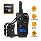 Training Dog Collar - 2019 Newest Dog Training Collar, Remote Shock Collar with Beep Vibration Shock|1-100 Adjustable Levels|1640FT Remote Range, Rechargeable 100% Waterproof Dog Shock Collar for Small Medium Large Dogs