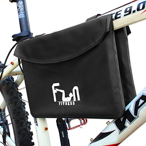 Waterproof Bike Bag Pannier for Top Tube Handlebar Frame Bicycle - iPad, Large Tablets and Huge Phones Protected from Bad Weather - Padded and Shock Absorption - Special Pocket for Cards, Keys (Horse Trailer Rack compare prices)