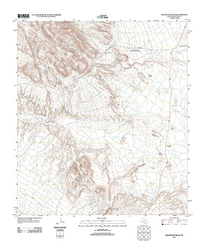 Topographic Map Poster - Grapevine Hills, TX TNM GEOPDF 7.5X7.5 Grid 24000-SCALE TM 2010, 24