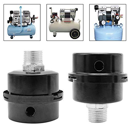 JunYe Silenciador de Filtro de Ruido de silenciador de Rosca de Tornillo de 3//420 mm para compresor de Bomba de Aire