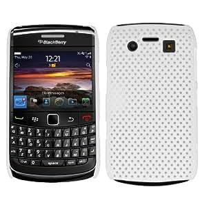 SAMRICK - Blackberry 9700 Bold & 9780 Bold - Malla Híbrido Armadura Duro Shell Protección Caso - Blanco (White)