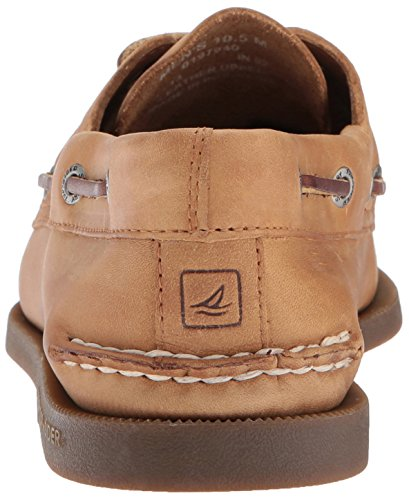 Sperry A/O 2-Eye Leather 0195214 - Mocasines de cuero para hombre Beige (Braun (Sahara))