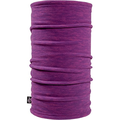 Turtle Fur Tube Midweight Polartec Thermal Pro Stria Fleece Neck Warmer, Violet, One Size