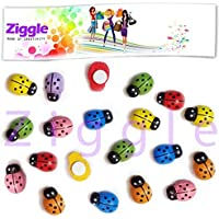 ZiggleBees Bugs Insects Wooden Sticker Fridge Sticker Craft Fun Imported Items Summer Camp Hobby School Crafts Size 13mm x 9 mm