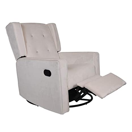 Tremendous Polar Aurora Swivel Gliding Rocker Recliner Suede Tufted Upholstered Glider For Nursery Study And Living Room Microfiber 6 Color Beige Unemploymentrelief Wooden Chair Designs For Living Room Unemploymentrelieforg