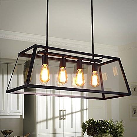 BZAHW Lámpara principal de 4 cabezales LED Lámpara de techo ...